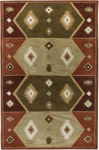 Hopi Red Southwest Area Rug