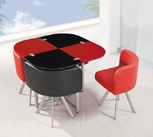Modern Funky Space Saving Table and Chairs