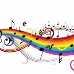 Music Rainbow Wall Decals