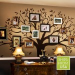 A Funky Artistic Way to Honor Family with Family Tree Wall Decals