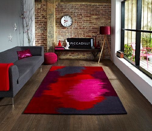 Funky Kitchen Flooring: Passion & Energy With Funky Red Area Rugs : Funk This House