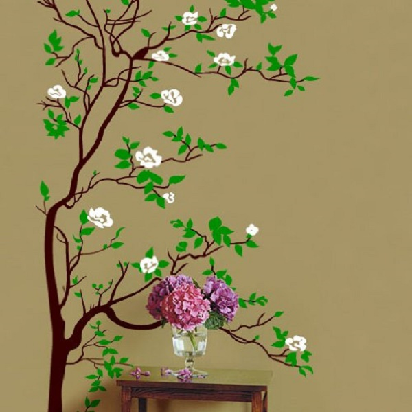 Funk39n beauty with cherry blossom tree graphics funk for Kitchen cabinets lowes with japanese cherry blossom wall art