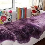 Colorful Sheepskin Area Rugs