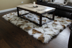 Faux Fur Fox Rug