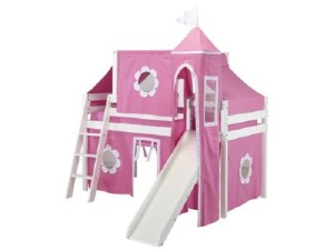 Princess Loft Bed with Tent and Slide