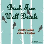 Funky Birch Tree Wall Decals