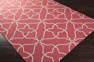 Pink Patterened Area Rug