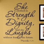 Inspirational Art with Proverbs Wall Decals