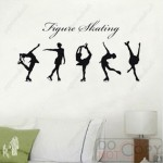 Graceful Funk with Figure Skating Wall Decals & Wall Art