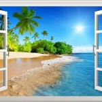 Funk'N Relaxing Beach Themed Wall Decals