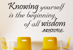 Knowing Yourself Wall Decal Quote