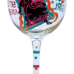 Funky Astrology Wine Glasses