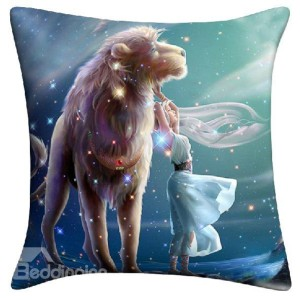 Lion and Fancy Pillow