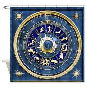 Astrology Wheel Shower Curtain