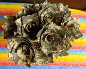 Camo Duct Tape Roses