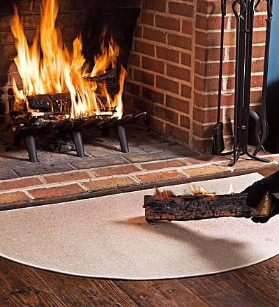 Fireproof Hearth Rugs, Don't Burn Down the House!