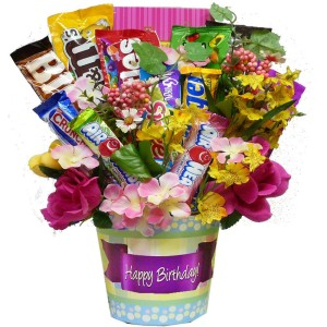 Happy Birthday Bouquet of Candy