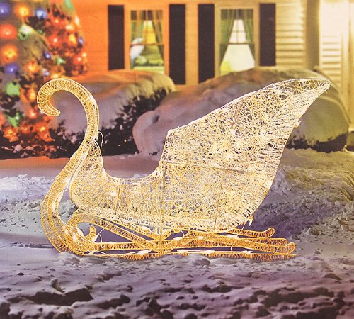 Outdoor Sleigh Decorations To Celebrate The Season : Funk
