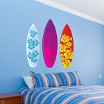 Funky Surfing Wall Decals