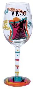 Virgo Wine Glass