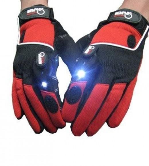 Gloves with LED Light