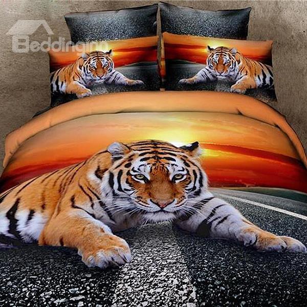 3D Tiger Bedding