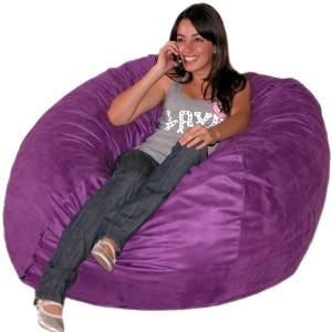 4.5ft Purple Bean Bag Chair