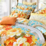 Orange Multi-Colored Bedding
