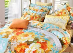 Orange Multi-Colored Bedding