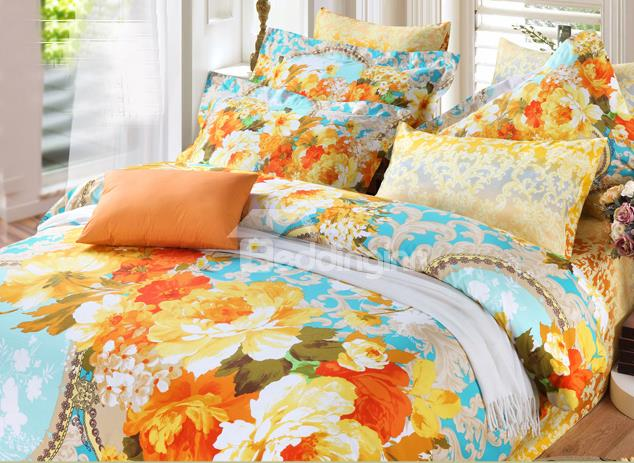 Funky Multi Colored Orange Bedding Funk This House