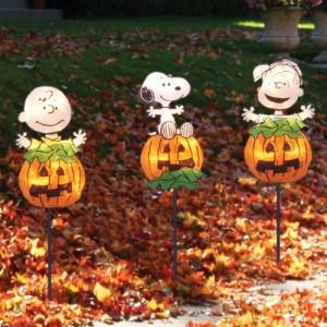 Peanuts Lighted Pathway Pumpkins