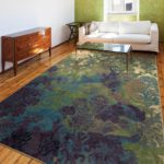 Tangled Carden Flower Bone Rug Purple & Green Tones