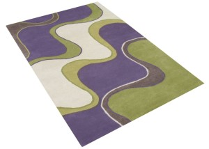 Purple and Green Area Rug