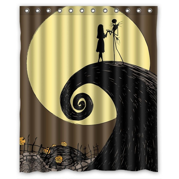 Funky Nightmare Before Christmas Shower Curtains