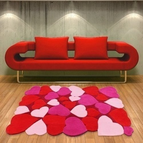 Get Grounded With An Area Rug With Hearts 7 Designs To