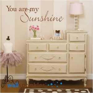 You Are My Sunshine Wall Decals