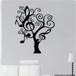 Funky Black Tree Wall Decals