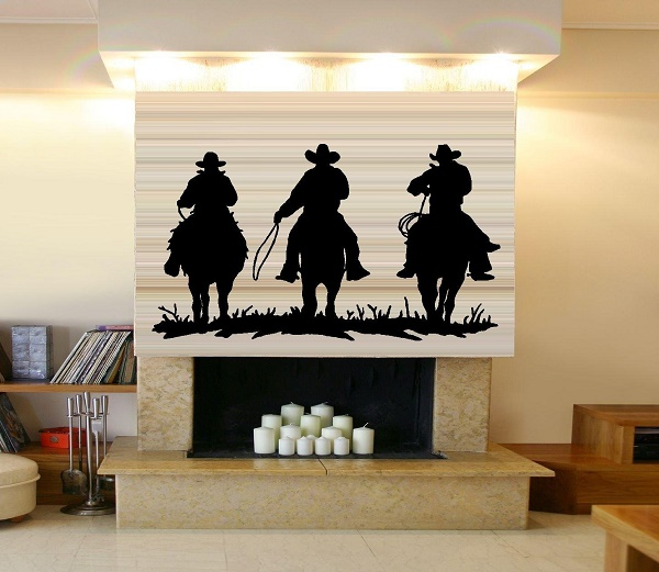 Cowboy wall decal for Cowboy wall mural