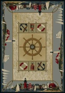 Mixed Nautical Features on an Area Rug