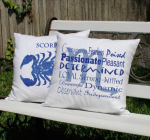 Scorpio Throw Pillow Set
