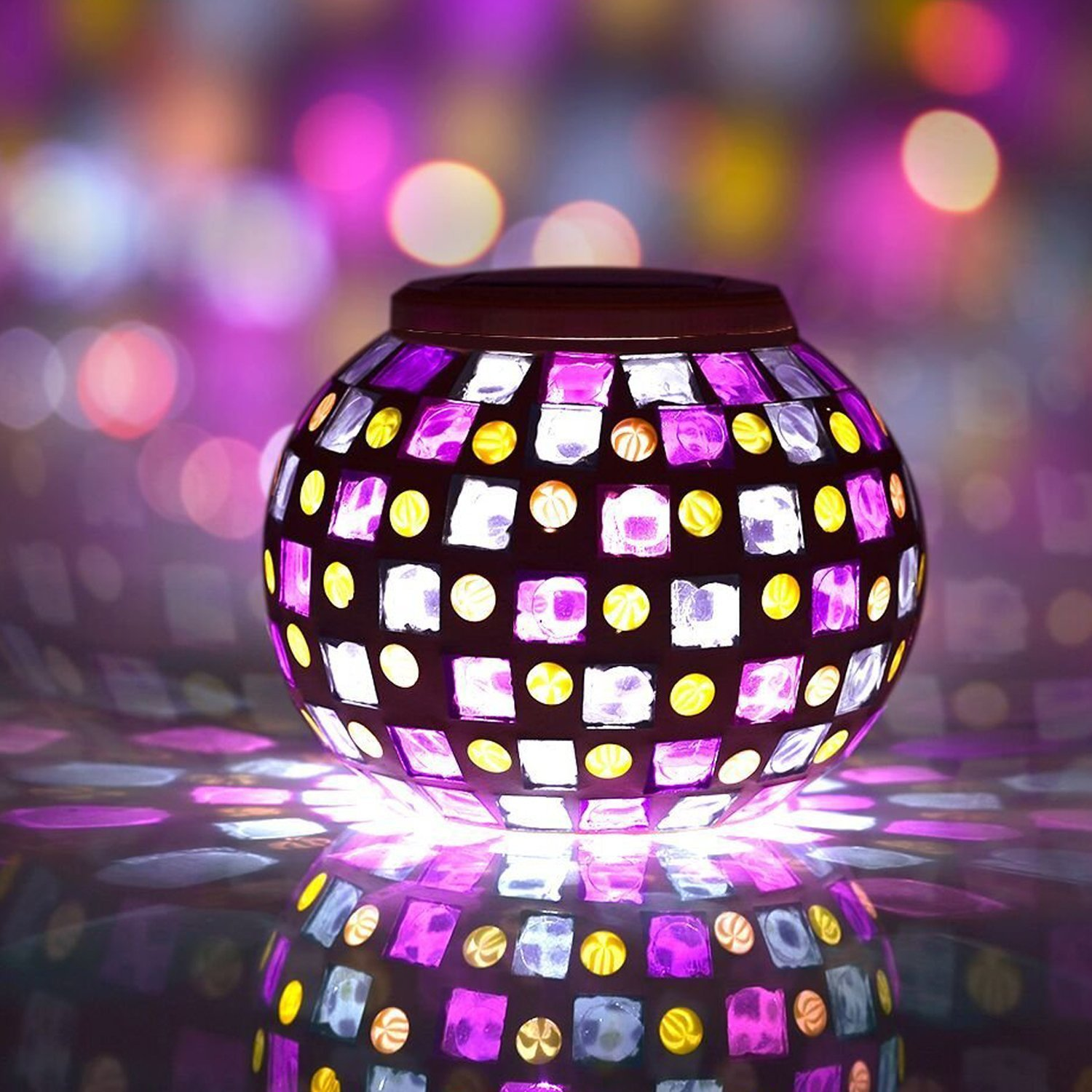 Mosaic Color Changing Led Solar Light for Funk'N Ambience
