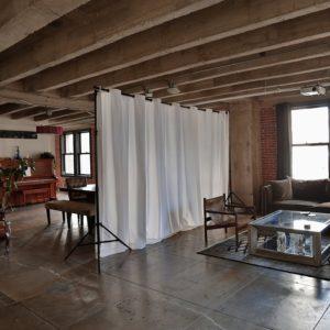 Freestanding Drapery Room Divider