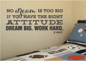 Football Wall Decals - No Dream is Too Big