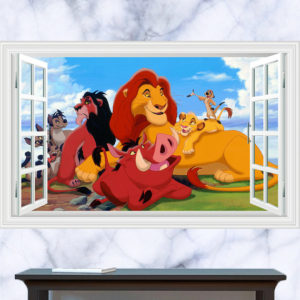 Lion King Window Wall Graphic