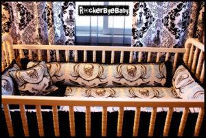 Goth Baby Crib Set