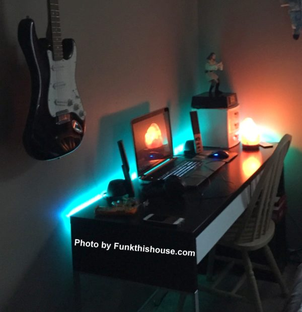 Led Strip Lights on Desk