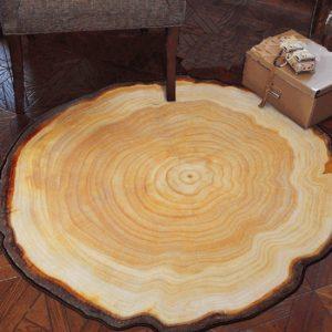 Wood Grain Look Area Rug