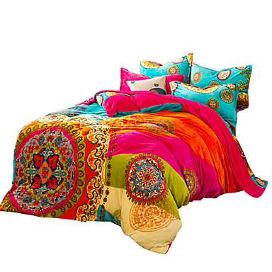 Colorful 4pc Bohemia Bedding Set