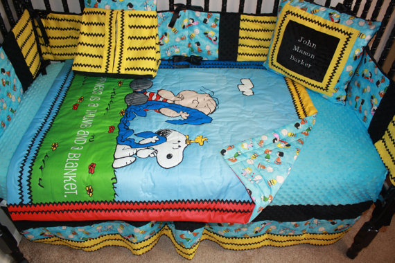 Charlie Brown Crib Bedding Set