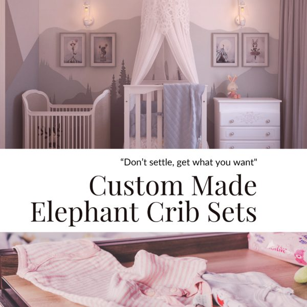 Custom Made Elephant Crib Sets
